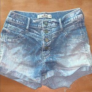 Hollister denim acid wash shorts